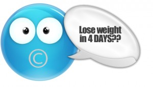 weight loss in 4 days