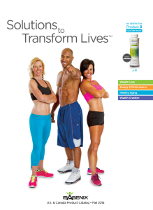 isagenix catalogue